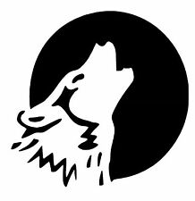 Wolf Howling vinyl car Decal / Sticker