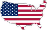 autocollant sticker voiture moto carte drapeau usa etats unis amerique americain