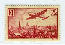 France, Scott #C11, Plane over Paris, Mint Hinged, 1936