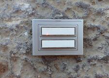 beleuchtbarer Aufputz 2fach Klingeltaster Klingelplatte Silber