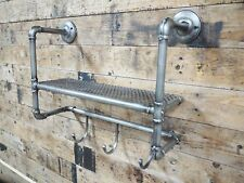 Dutch Imports Industrial Vintage Pipe Wall Storage Rack Shelving Bathroom 44cm