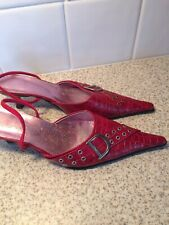 Red Sling Back Shoes Size 40 DIOR Copies
