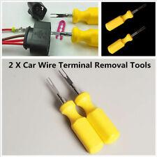 Herramienta de eliminación de terminal de coche 2x Cable De Liberación Pin Conector herramienta Quita Hoja de ajuste COCHE & MOTO