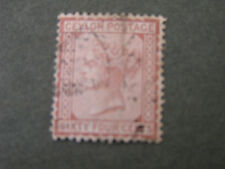 CEYLON, SCOTT # 72, 64c. VALUE RED BROWN 1877 QV ISSUE USED