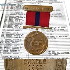NAMED 1948 MARINE CORPS GOOD CONDUCT MEDAL CHARLES R. GAMBLE 1945-1951 +RESEARCH