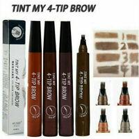 TINT MY 4-TIP BROW Liquid Eyebrow Pencil Waterproof Microblading Fork Tip Fine