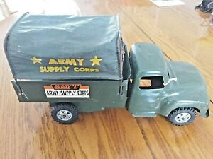 Buddy L Army Supply Corps Truck Vehicle Pressed Steel