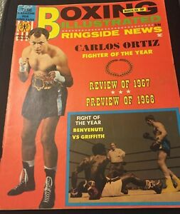 Boxing Illustrated~Ringside News- MARCH,1968- Carlos Ortiz-Fighter of the Year