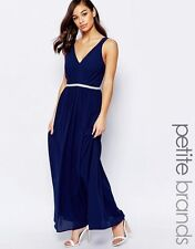 Jarlo Petite V Neck Maxi In Chiffon With Embellished Waist £85.00 UK 10P