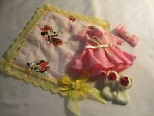 "Handmade dress, socks, blanket and hair bow fits doll 7-8"""