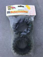 "*VINTAGE* set de Pneus / Tyre set Schumacher U6514 RR 2"" SPIKE 4x20 GREEN"