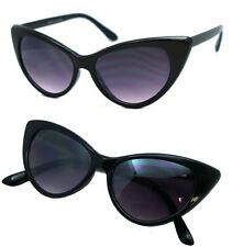 Retro Classic Designer Vintage Fashion Shades Women's Black Cat Eye Sunglasses