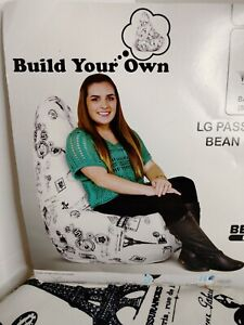 Bean Bag Factory Passport Stamp Bean Bag Cover Build Your Own Size Large