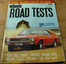 1970.WHEELS Road Tests No18.MONARO GTS 350.Falcon GT HO.FAIRLANE 351.LC Torana