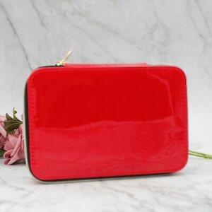 YSL Beauty Red Makeup Cosmetic Case / Bag / Box with Mirror, Brand New!