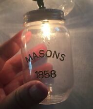 1858 Masons Jar Plastic Electric String Lights Camping Party Super Cute