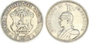 Kolonien Deutsch Ostafrika, DOA 1/4 Rupie 1898 vz-st (47972)