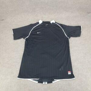 Nike Team Shirt Adult Medium M Black White Dri Fit Swoosh Pullover Mens 10A7