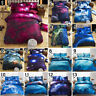 3D Galaxy Bedding Set Universe Outer Space Duvet cover Bed Sheet Pillowcases New