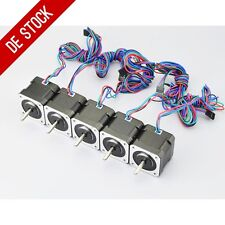 DE Ship 5pcs Nema 17 Stepper Motor 45Ncm 4-lead 1m Cable W/ Connector DIY CNC