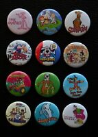 "Cartoons from the 1960's & 1970's 1"" Pinback Buttons ( >FREE Shipping<)"