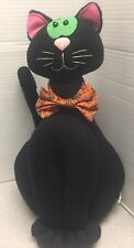 Vintage Halloween Black White Scaredy Cat 13� Stuffed Animal Plush