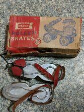 Vintage Metal Globe Roller Skates #197 With Box
