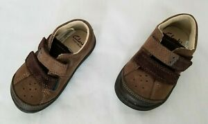 Kids Size 4.5 N/M Brown Clarks First Shoes Dean Boy F Casual Leather Shoes