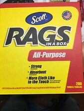 Scott In A Box Cellulose Rags, White,200 Towels 76260