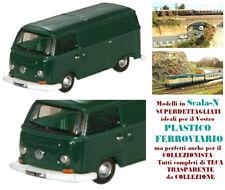 VOLKSWAGEN VW BUS PULLMINO VINTAGE FURGONE CHIUSO VERDE Perù in SCALA-N NVW001