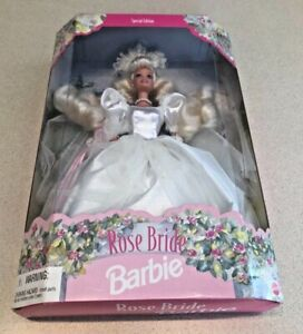 Vintage 1996 Rose Bride Barbie - Special Edition - New In Box & Unopened!