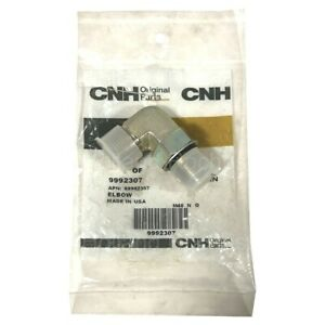 "CNH-New Holland 9992307 Elbow 90 Degree, 13/16""-16 x 3/4""-16 Adj"