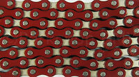 "Yaban old school BMX or single speed bicycle chain 1/2"" X 1/8"" RED and NICKEL"