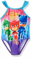 PJ Masks Toddler Girls' One Piece Ruffle Swimsuit Size 2T