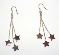 Earrings Ladies STAR Hook Through Syle Pendant Earrings Gift Present Idea