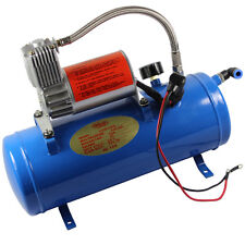 AIR COMPRESSOR WITH 6 LITER TANK FOR TRAIN HORNS MOTORHOME TIRES DC 12V 150PSI