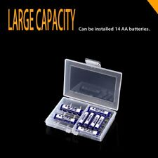 LEISE Batteries Storage Case Holder Battery Box For 10 x AA or 14 x AAA LU