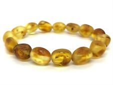 Amber BRACELET Baltic Amber Yellow Honey Raw Untreated Healing Beads 10,2g 11720
