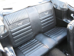 Deluxe PONY REAR Seat Upholstery Black 1964 - 1966 Ford Mustang Convertible