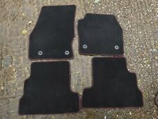 GENUINE FORD KUGA ST- LINE 2015-2019 VELOUR CARPET FLOOR MATS BLACK RED AS NEWWW