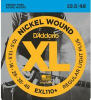 10 Sets D'Addario EXL110+ Electric Guitar Strings 10.5 -48 Light Plus Pack