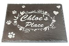 Personalized Memorial Slate Plaque, Slate Stone for Pet, Dog, Cat, Custom Sign