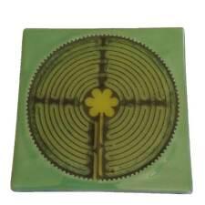 Labyrinth Coasters - 3 Cols - Recycled Glass - Handmade in Ecuador - Fair Trade