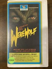 Legend Of The Werewolf VHS Tape Cut Box Horror Movie