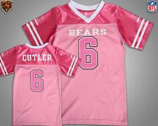 Chicago Bears #6 Jay Cutler Pink Kids Girls Jersey NFL Youth sz 0/3M-M(7/8) New