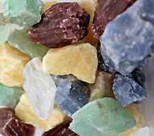 1000 Carat Bulk Lot Natural Calcite Rocks Mixed Orange Red Green Blue Honey Ice