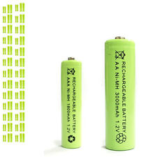 50 AAA 50 AA 1800mAh 3000mAh Ni-MH rechargeable battery Solar Light MP3 RC Green