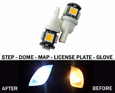 2 White T10 194 168 175 2825  Map Dome License Plate LED Lights for Porsche