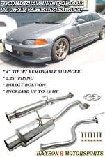 Catback Exhaust + Silencer Fits 92-00 Civic 2/4dr EG EK