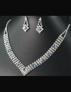 BRIDAL/WEDDING  Crystal/Diamonte Necklace Set **133**